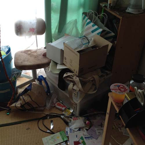 京都府向日市のゴミ屋敷のお宅内部写真2
